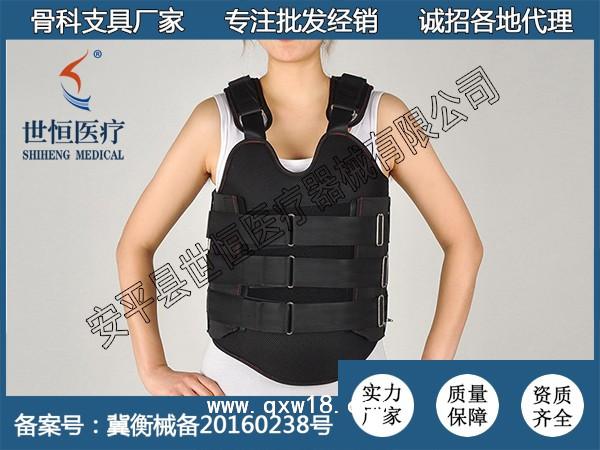 低温热塑可塑型可调式胸腰椎固定支具
